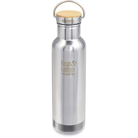 Klean Kanteen Reflect Vacuum Insulated Bottle Bamboo Cap 592ml, mirrored stainless